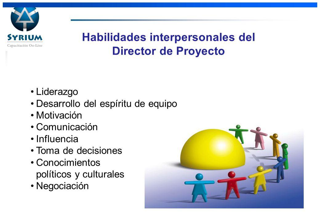 Habilidades interpersonales del Director de Proyecto