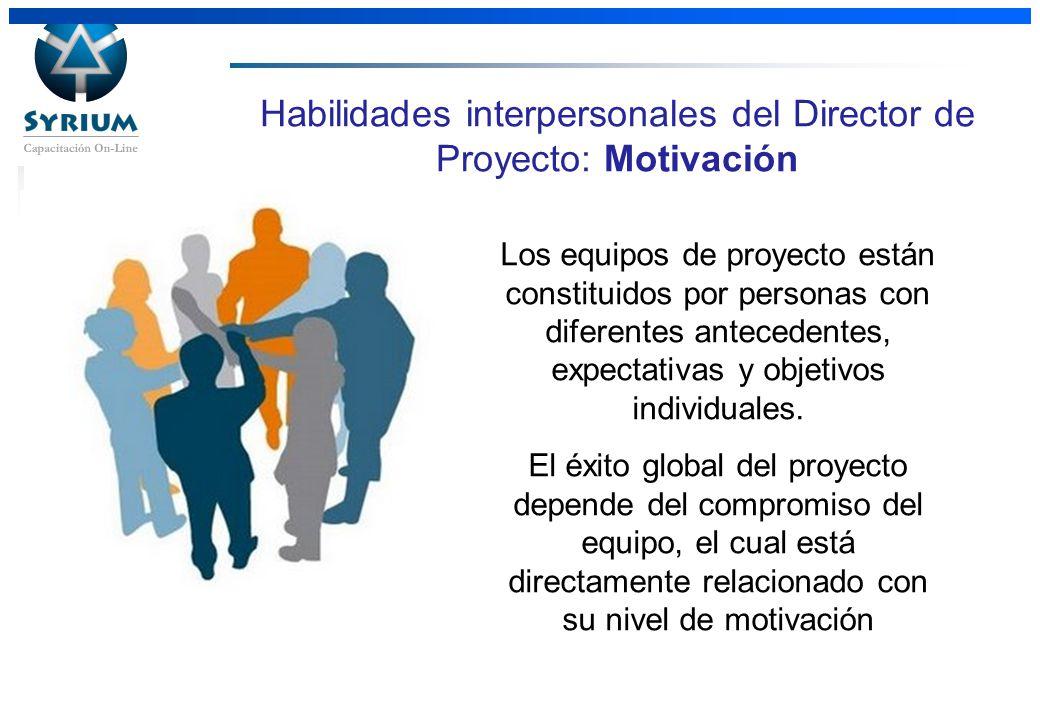 Habilidades interpersonales del Director de Proyecto: Motivación
