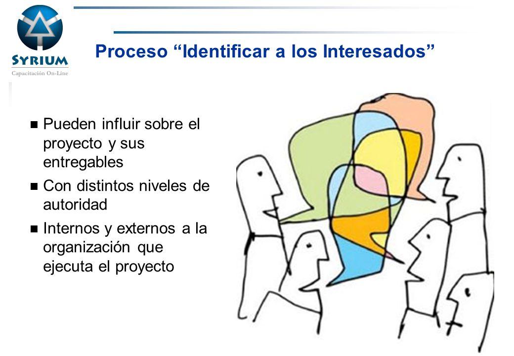 Proceso Identificar a los Interesados