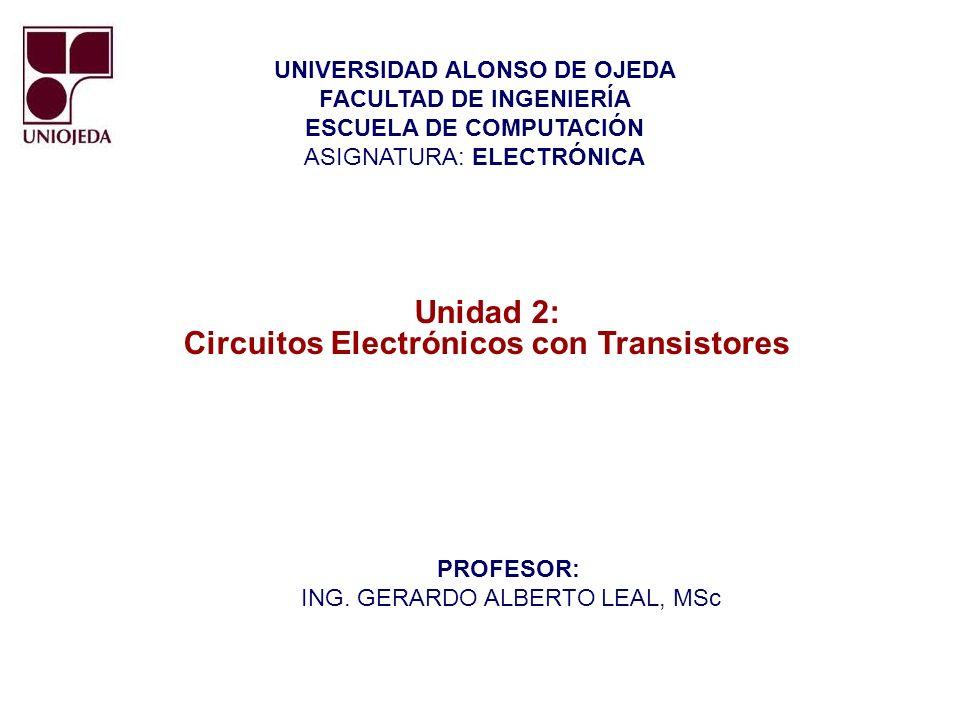 Unidad 2: Circuitos Electrónicos con Transistores