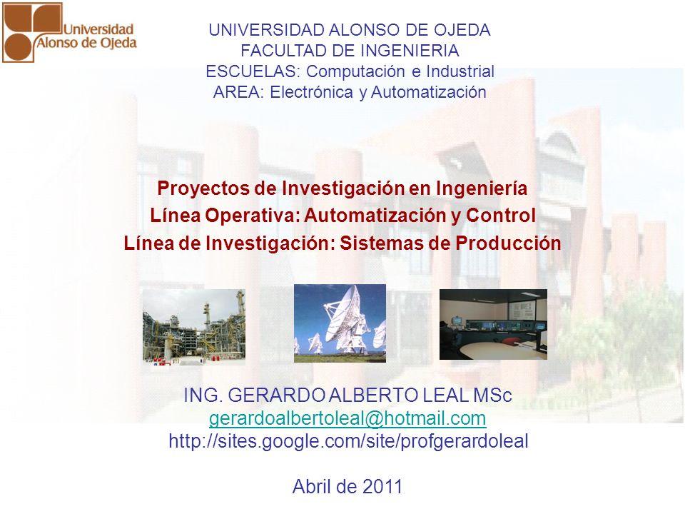Proyectos de Investigación en Ingeniería