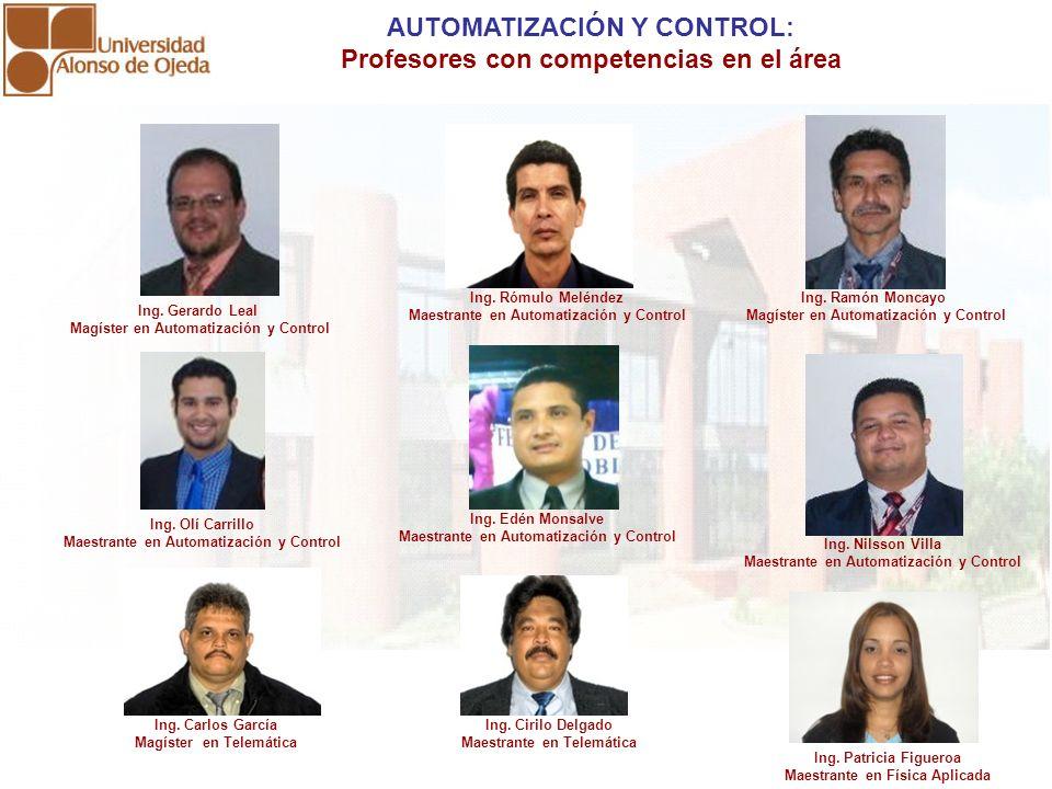 AUTOMATIZACIÓN Y CONTROL: Profesores con competencias en el área