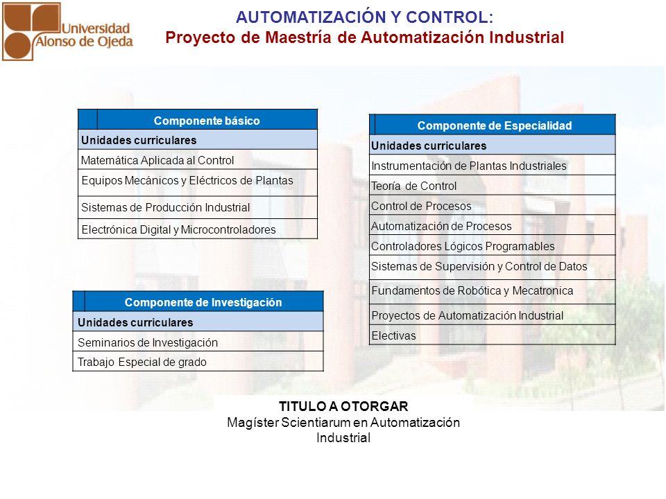 AUTOMATIZACIÓN Y CONTROL: