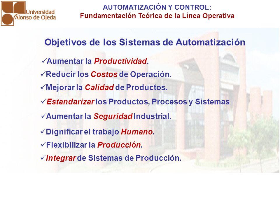 AUTOMATIZACIÓN Y CONTROL: Fundamentación Teórica de la Línea Operativa