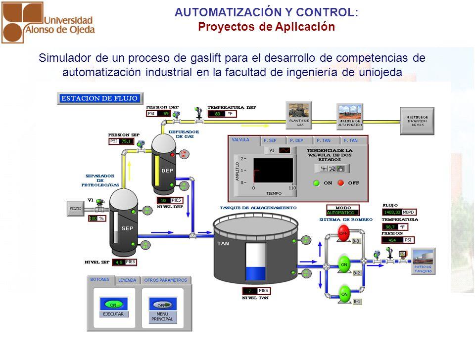 AUTOMATIZACIÓN Y CONTROL: Proyectos de Aplicación