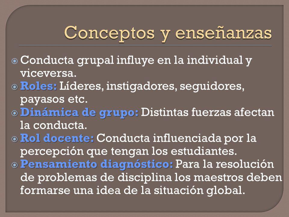 Conceptos y enseñanzas