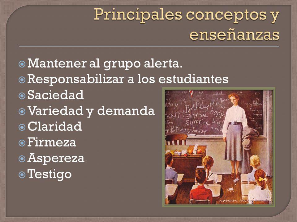 Principales conceptos y enseñanzas