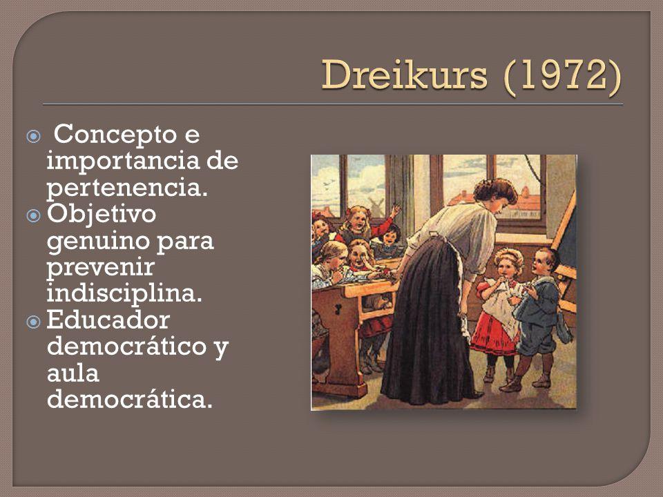 Dreikurs (1972) Concepto e importancia de pertenencia.