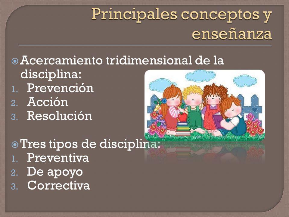 Principales conceptos y enseñanza