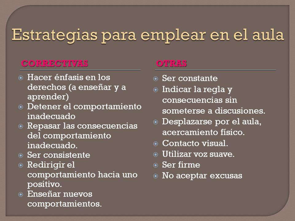 Estrategias para emplear en el aula