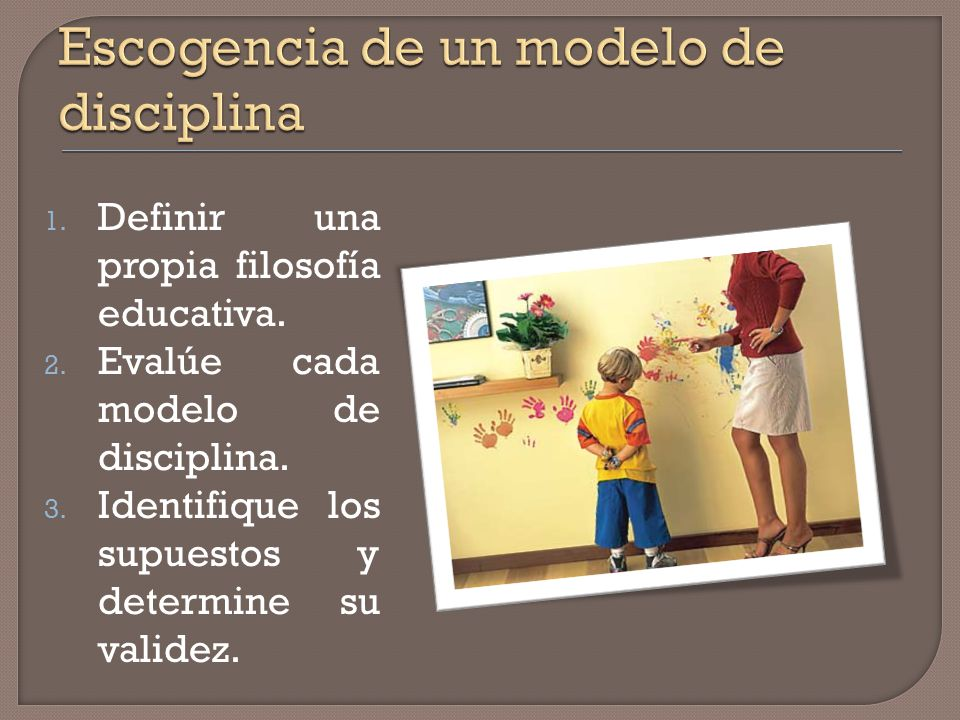 Escogencia de un modelo de disciplina