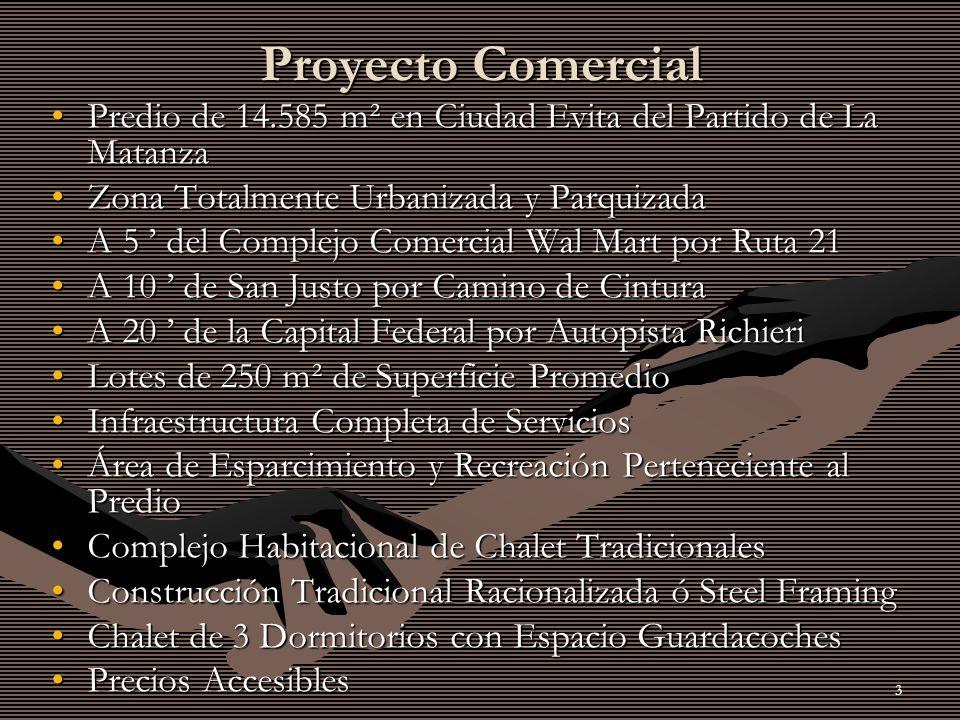 Proyecto Comercial Predio de 14.585 m² en Ciudad Evita del Partido de La Matanza. Zona Totalmente Urbanizada y Parquizada.