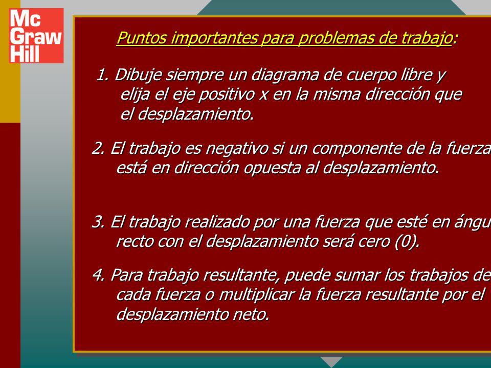 Puntos importantes para problemas de trabajo: