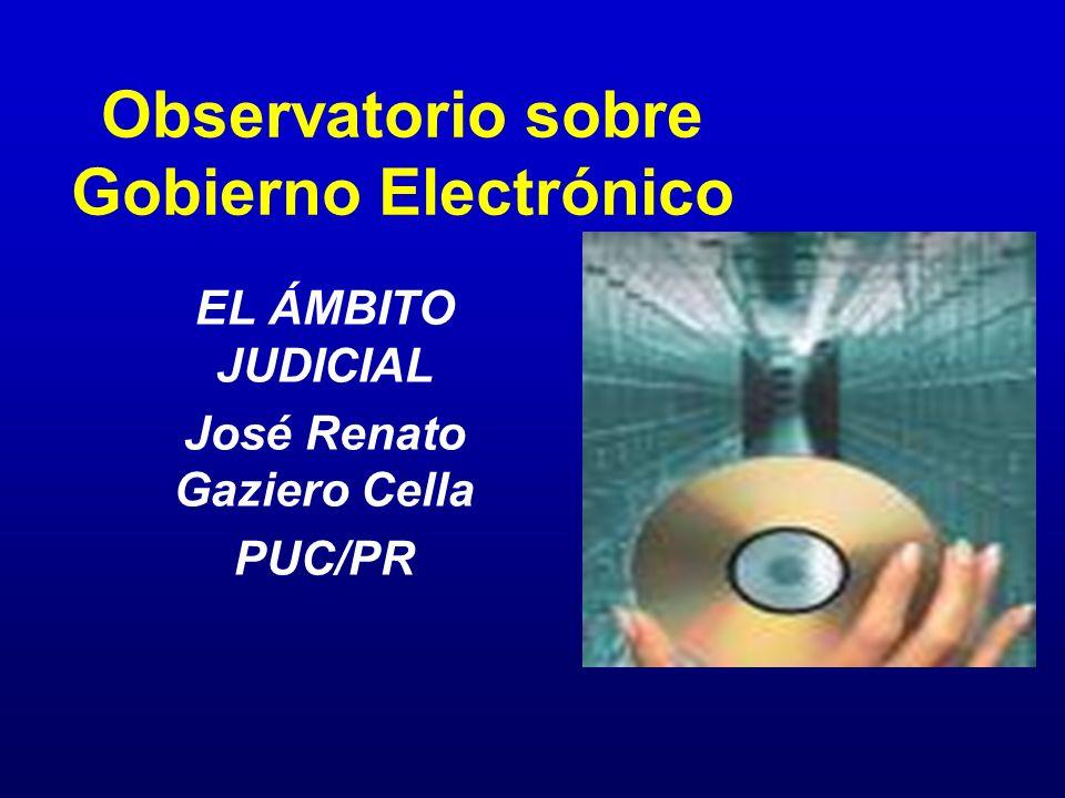 Observatorio sobre Gobierno Electrónico