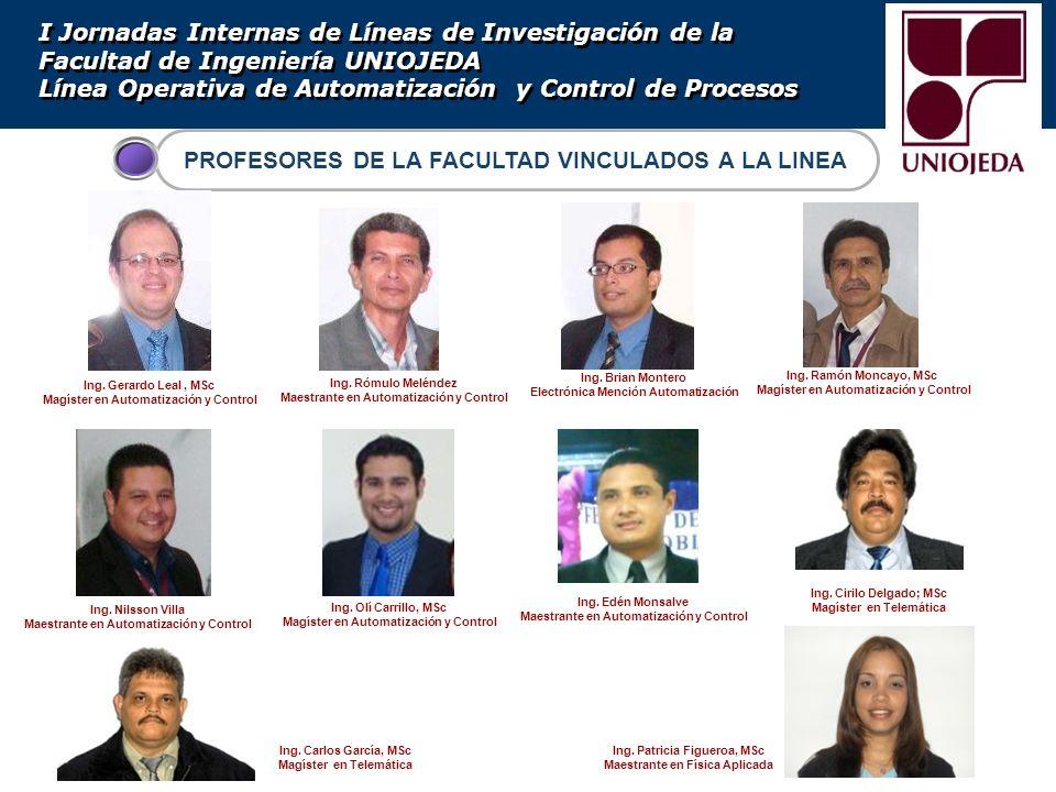 PROFESORES DE LA FACULTAD VINCULADOS A LA LINEA