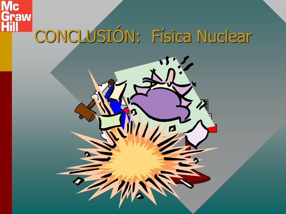 CONCLUSIÓN: Física Nuclear