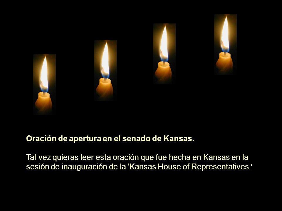 Oración de apertura en el senado de Kansas