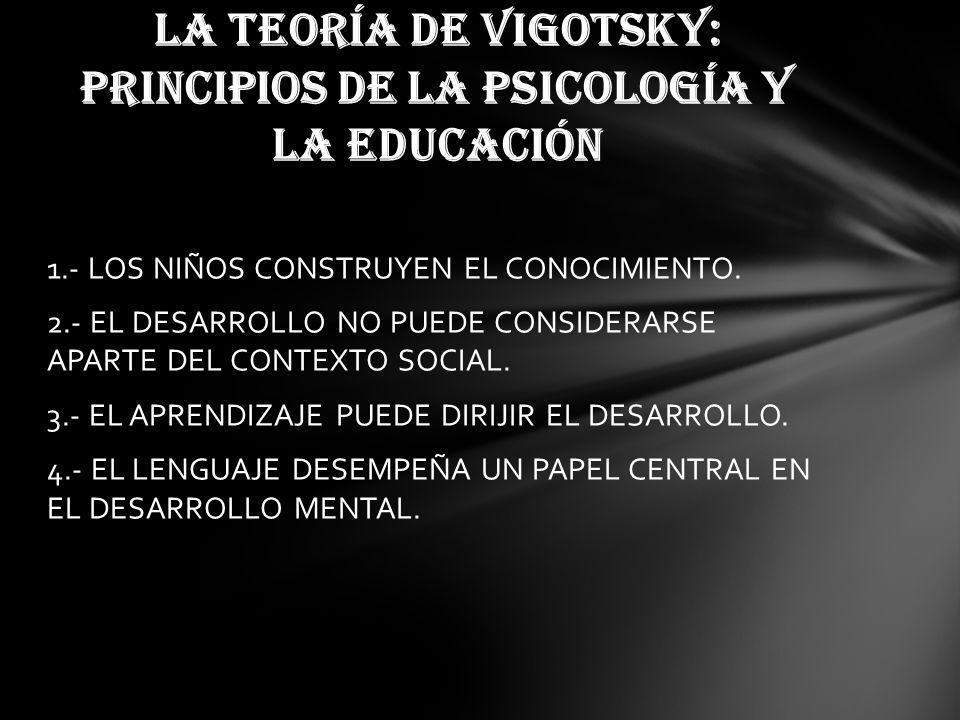 LA TEORÍA DE VIGOTSKY: PRINCIPIOS DE LA PSICOLOGÍA Y LA EDUCACIÓN