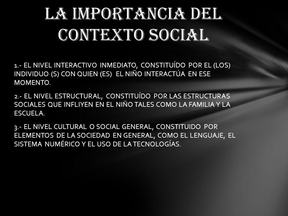 LA IMPORTANCIA DEL CONTEXTO SOCIAL