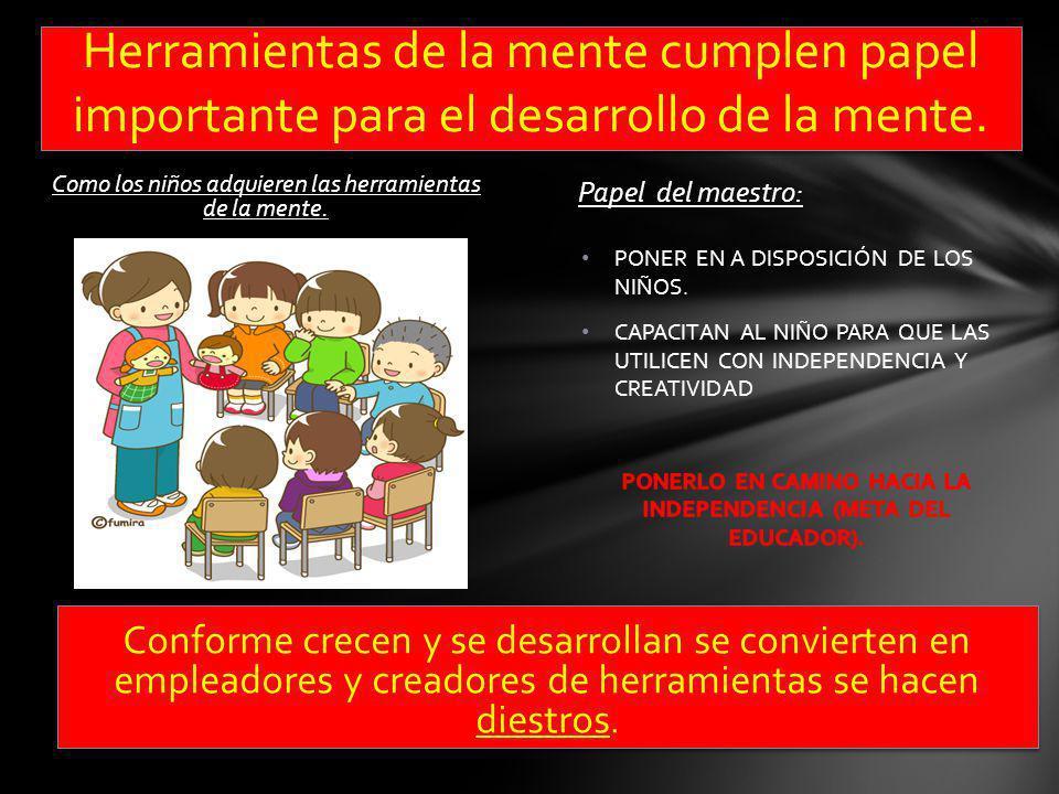PONERLO EN CAMINO HACIA LA INDEPENDENCIA (META DEL EDUCADOR).