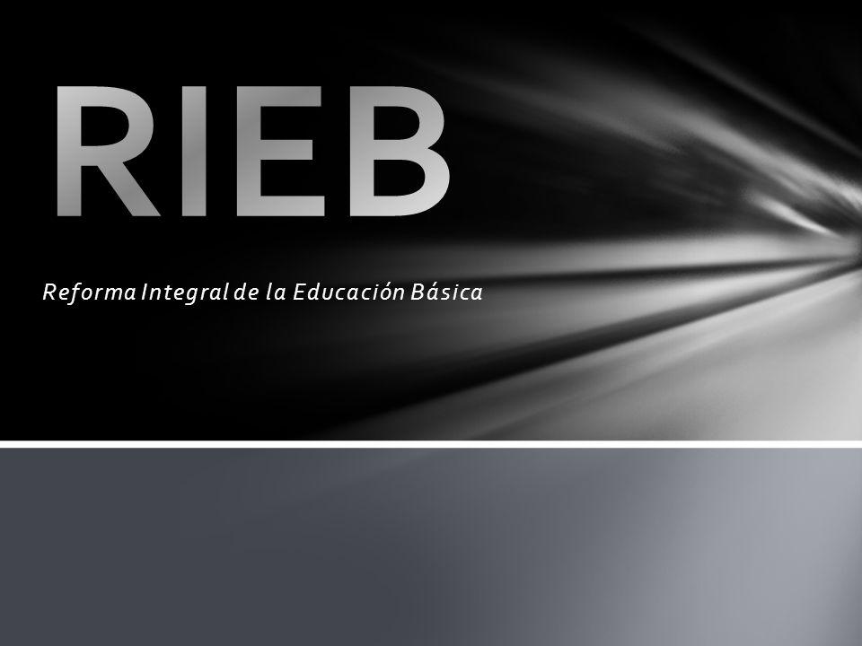 Reforma Integral de la Educación Básica