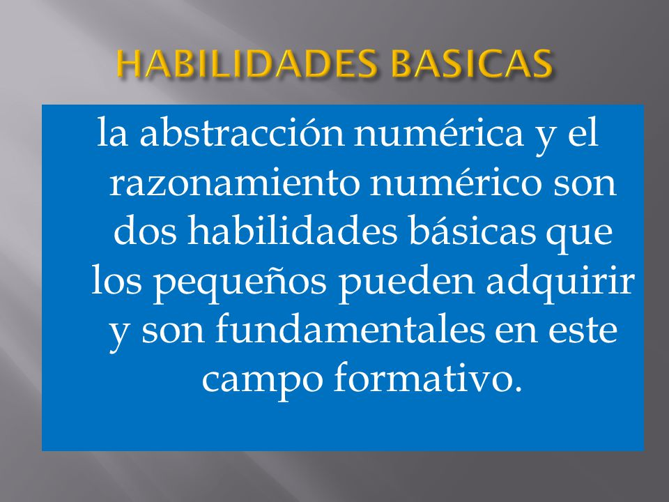 HABILIDADES BASICAS