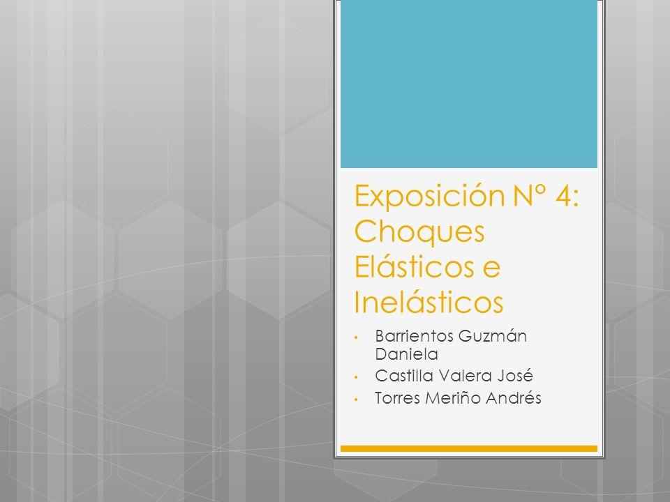 Exposición N° 4: Choques Elásticos e Inelásticos