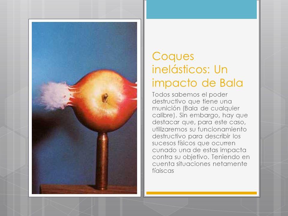 Coques inelásticos: Un impacto de Bala