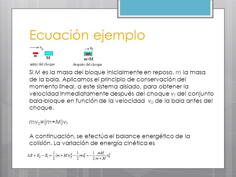 Ecuación ejemplo