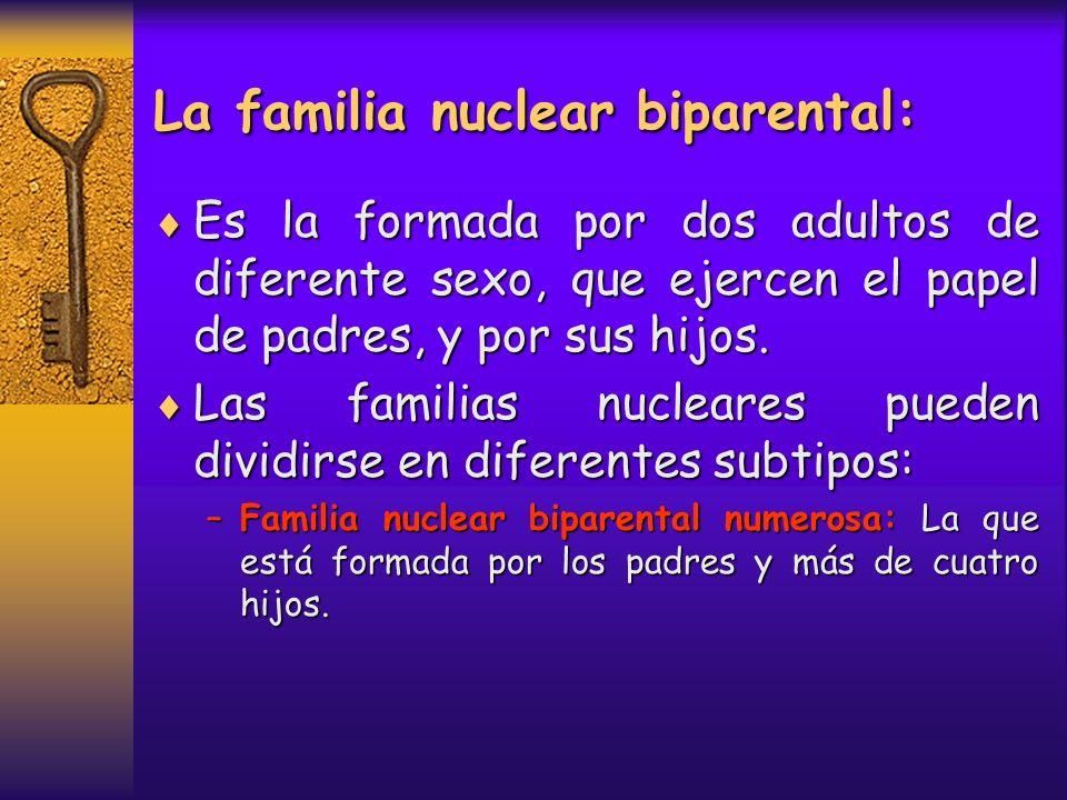 La familia nuclear biparental: