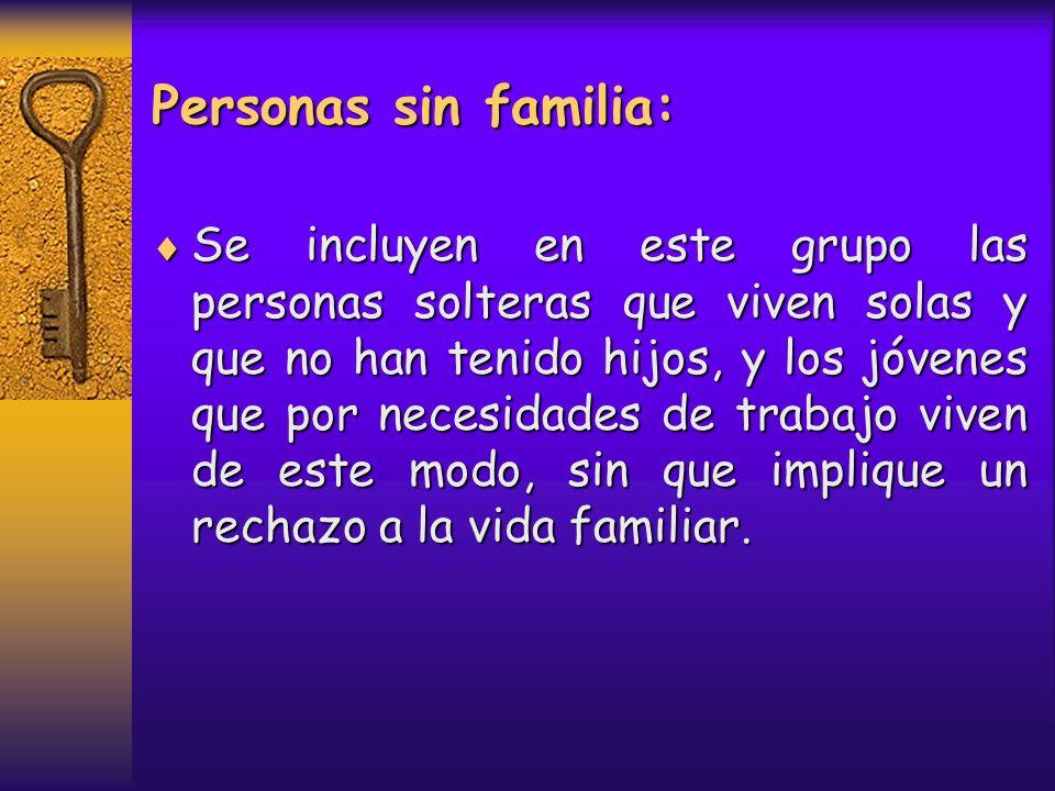 Personas sin familia: