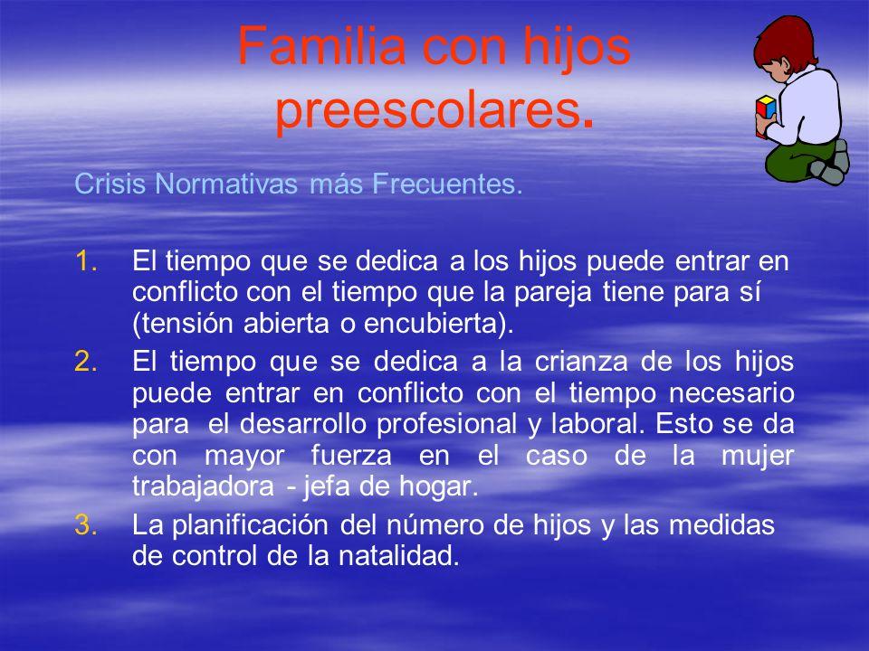 Familia con hijos preescolares.