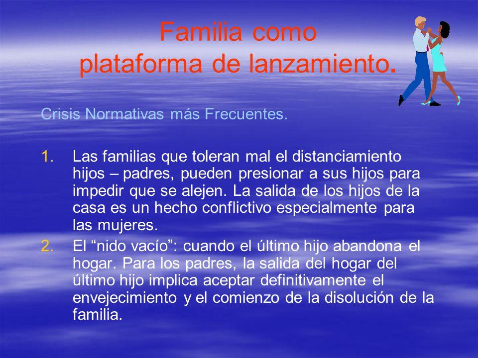 Familia como plataforma de lanzamiento.