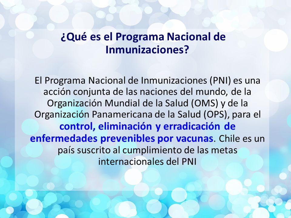 ¿Qué es el Programa Nacional de Inmunizaciones