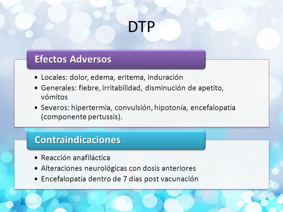 DTP Efectos Adversos Contraindicaciones