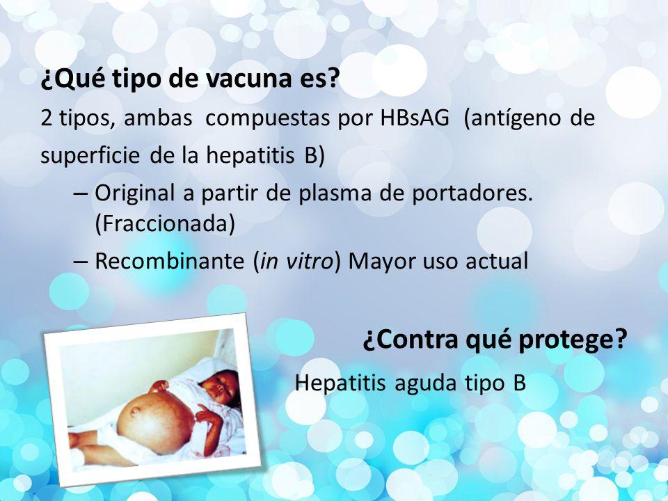 ¿Qué tipo de vacuna es ¿Contra qué protege