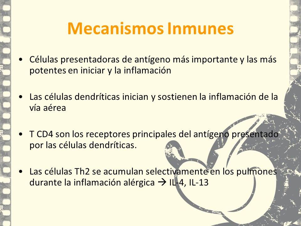 Mecanismos Inmunes Células presentadoras de antígeno más importante y las más potentes en iniciar y la inflamación.