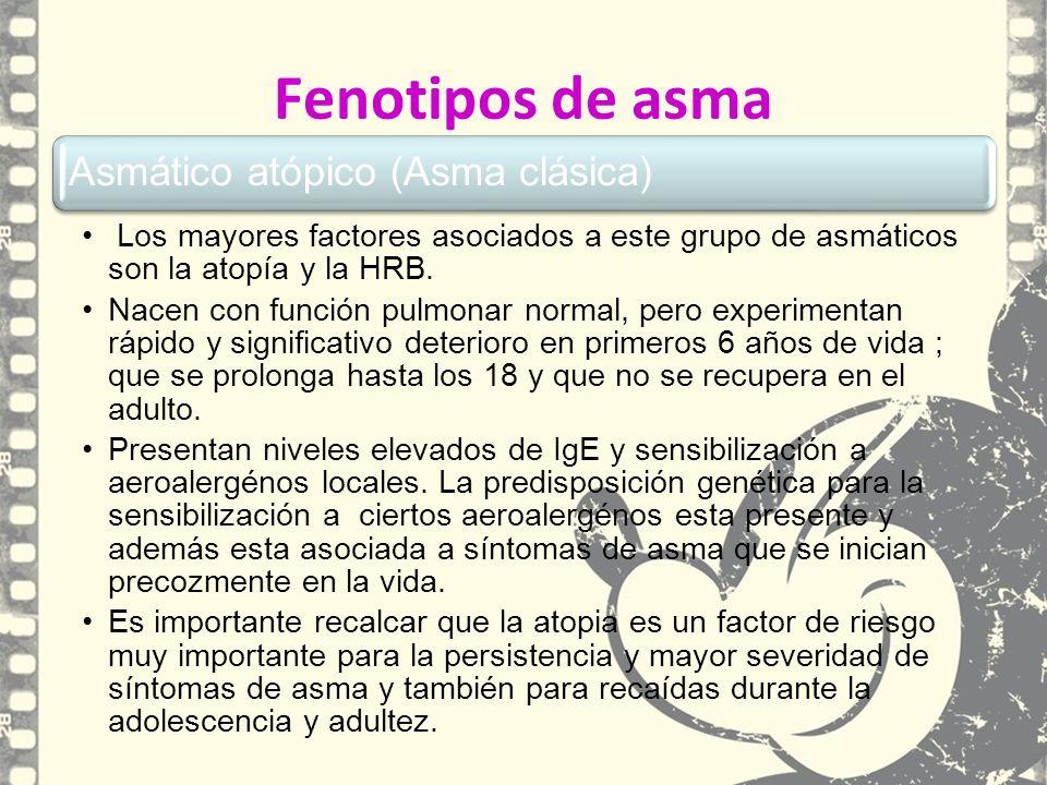Fenotipos de asma Asmático atópico (Asma clásica)