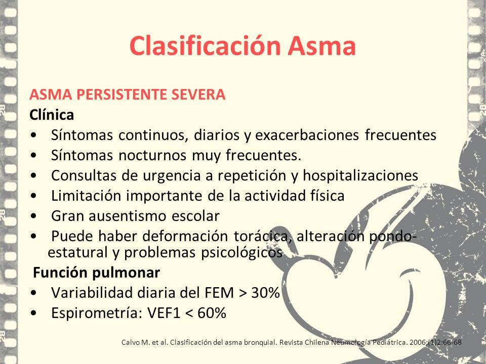 Clasificación Asma