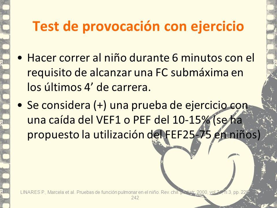Test de provocación con ejercicio