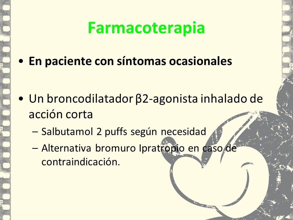 Farmacoterapia En paciente con síntomas ocasionales