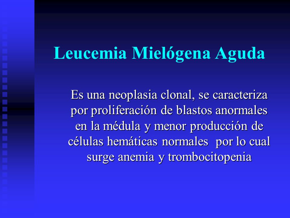 Leucemia Mielógena Aguda