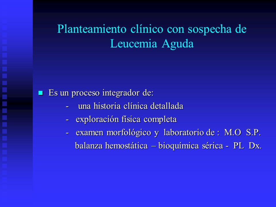 Planteamiento clínico con sospecha de Leucemia Aguda