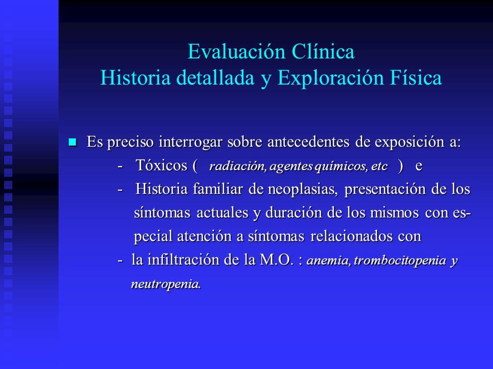 Evaluación Clínica Historia detallada y Exploración Física