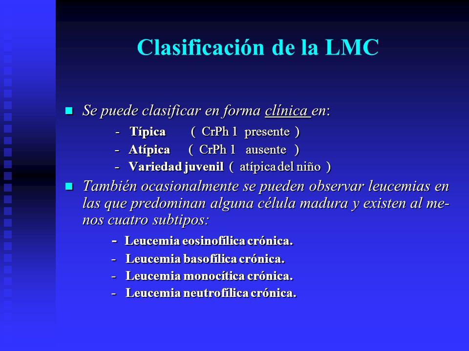 Clasificación de la LMC