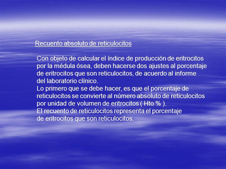 Recuento absoluto de reticulocitos