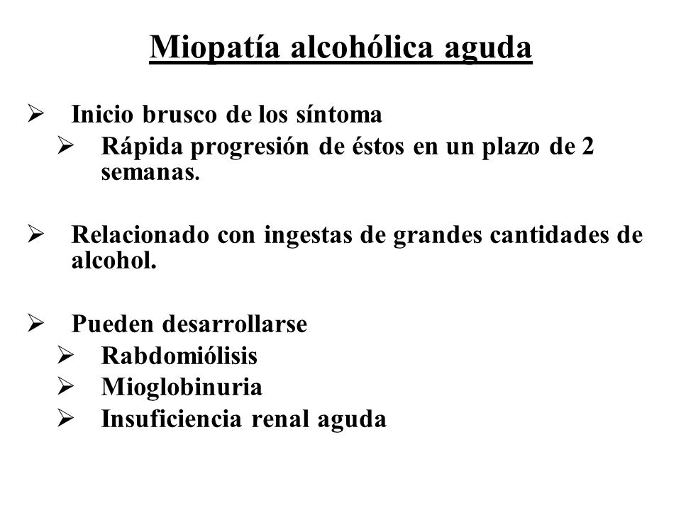 Miopatía alcohólica aguda