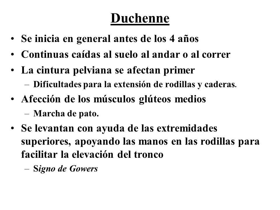 Duchenne Se inicia en general antes de los 4 años
