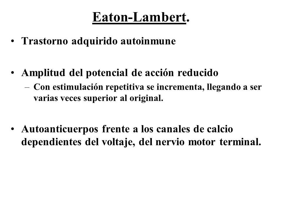 Eaton-Lambert. Trastorno adquirido autoinmune