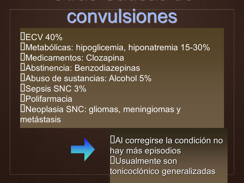 Otras Causas de convulsiones